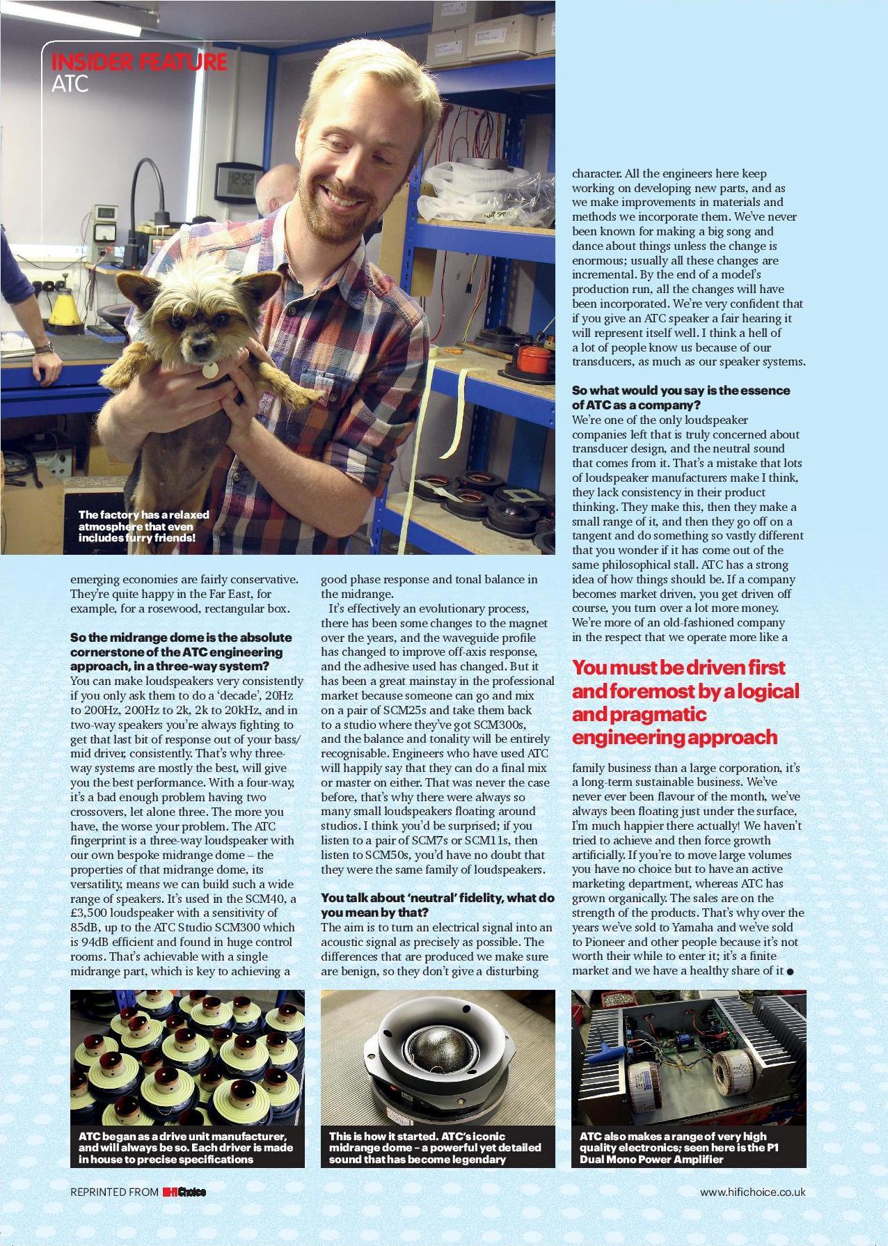 Billy Woodman Interview – Hi-Fi Choice Magazine | ATC